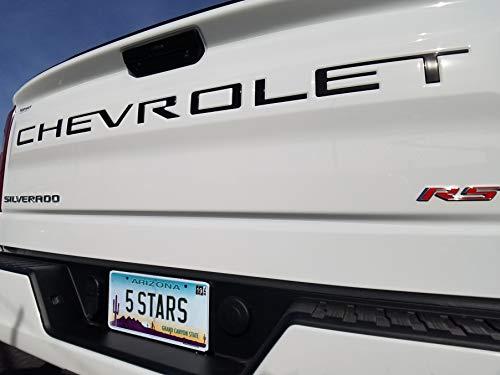 EyeCatcher Tailgate Insert Letters fits 2019-2020 Chevrolet Silverado (Gloss Black)