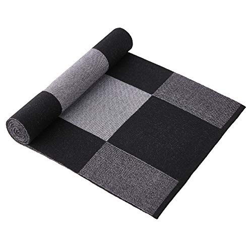Taylormia Men's Winter Cashmere Scarf - Warm Soft Gentleman Knit Scarves Black Grey by Taylormia (Image #4)