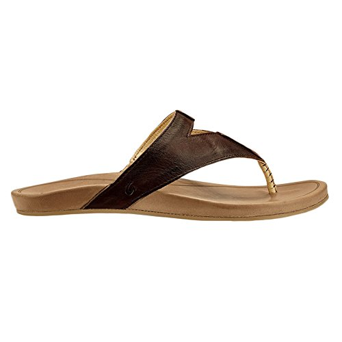 OluKai Lala - Women's Leather Comfort Sandal Kona Coffee / Tan buy cheap footlocker poYJqW