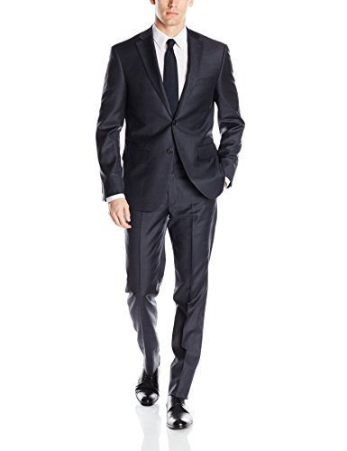 Notch Lapel Wool Suit - 1