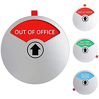 YARKOR Out of Office Sign for Office Door, Privacy Sign Do Not Disturb/Welcome Please Knock Office Conference Sign for Door House Wall, Magnetic and Strong Adhesive Option, 4 Inch (Round)
