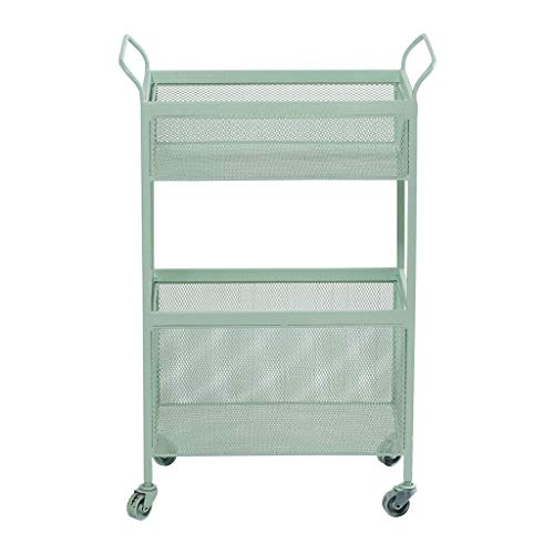 ZGYQGOO Multi-Layer Storage Rack Kitchen Organizer Iron Racks Wheeled Bedroom Bedside Living Room Storage cart Shelf Flower Stand