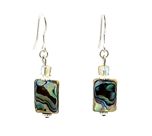 A-Ha - Rectangle Abalone Shell Earrings