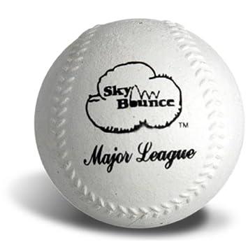 12 Count Sky Bounce 2922 White Sponge Baseball