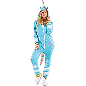 Tipsy Elves' Women's Unicorn Costume – Cute Comfy Colorful Halloween Jumpsuit