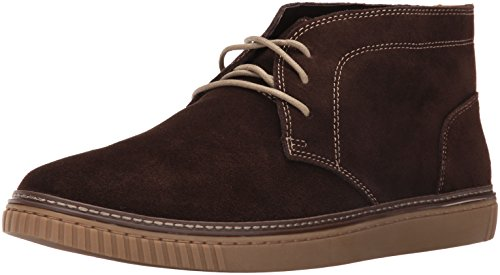 Johnston & Murphy Mens Wallace Chukka Chukka Laars Donkerbruin Waterafstotend Suède