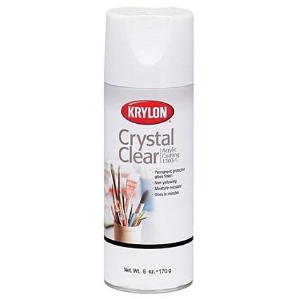 Krylon K01303A07 Crystal Clear Acrylic Coating Aerosol Spray, 6 Ounce