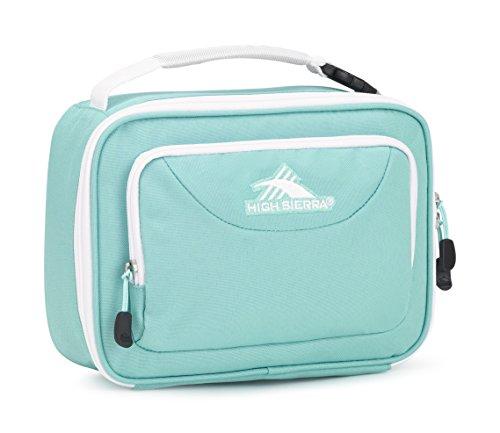 High Sierra Single Compartment Lunch Bag, Aquamarine/White ()