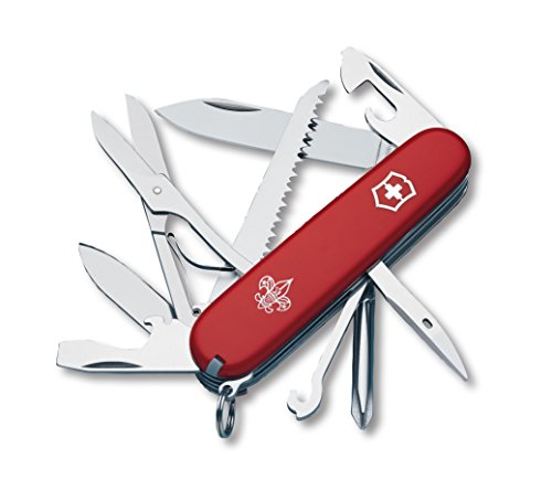 Victorinox Swiss Army Huntsman Pocket Knife, Red Boy Scouts of America,91mm