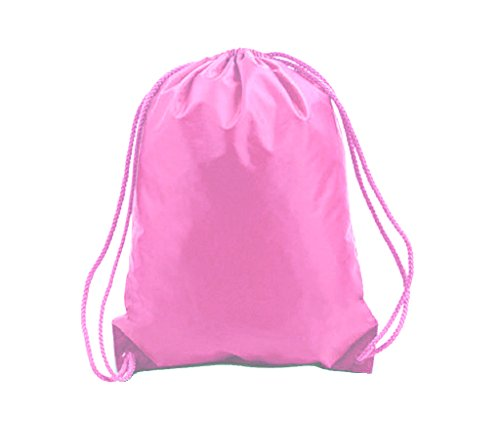 (12 Pack) Set of 12 Drawstring Polyester Backpack Cinch Bags for Gym 5b675d187b961