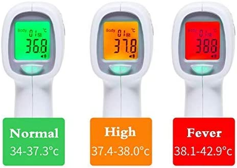 1 PACK Non-Contact Digital Infrared Thermometer Forehead and Ear Thermometer with Fever Alarm and Memory Function,Baby/&Adults Use