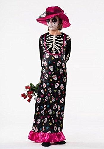 El Rey Del Carnaval Disfraz De Catrina Para Niña Talla 8 A 10 Años