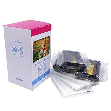 Compatible con Canon KP-108 Tinta y papel para impresoras de fotos ...