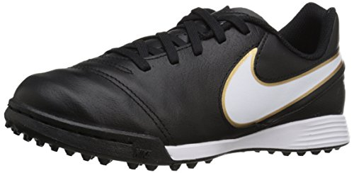 Gold Tf Shoe Nike Jr Tiempo VI Legend Black White Metallic Turf Kids Soccer 1RwCqH