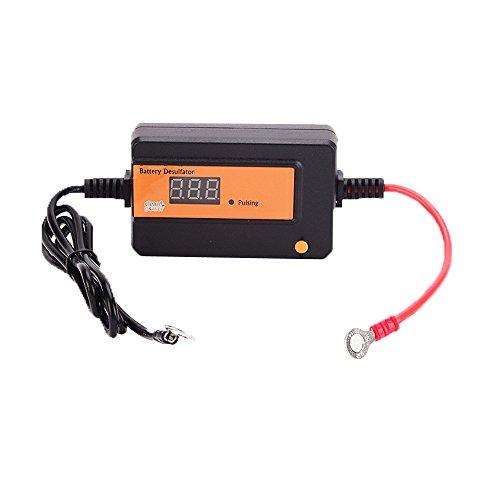 Price comparison product image Clecibor Auto Pulse Desulfator for 2A Lead Acid Batteries 12/24/36/48V Battery Regenerator with Circular Ring, Orange