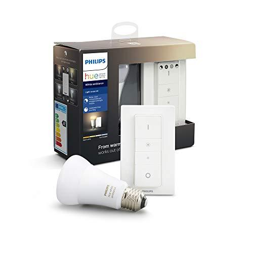 Philips Hue Bombilla inteligente LED E27 con Mando Inalámbrico, con Bluetooth, Luz Blanca de Cálida a Fría, Compatible…
