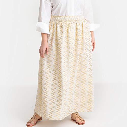 La Redoute Castaluna Womens Jacquard Maxi Skirt Beige Size US 24 ()