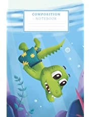 Crocodile Diving under Water Notebook: A beautiful gift for students, teachers, swimmers, divers, animal lovers, alligator and reptile fans.