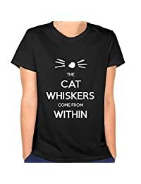 Cooll Women's Whiskers Cat Of Dan And Phil Pattern Cotton T Shirt