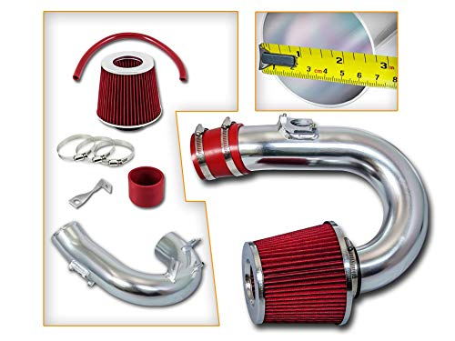 Rtunes Racing Short Ram Air Intake Kit + Filter Combo RED For 00-05 Toyota Celica GT ()