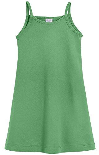 (City Threads Big Girls' Summer Dress Cami Camisole Spaghetti Strap Maxi Slip No Sleeve Dress For Sensitive Skin or SPD Sensory Friendly, Elf w/ Matching Stitch,)