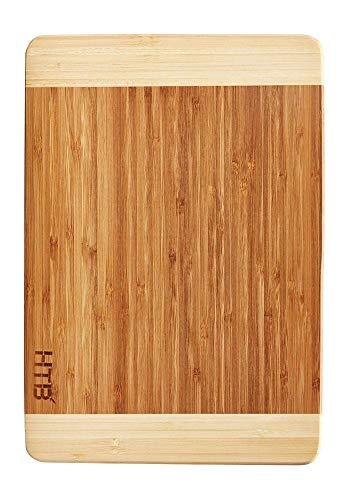 - HTB 100% Bamboo Cutting Board,Thick Bamboo For Food Prep, Making Cocktails or Serving Appetizers 03M