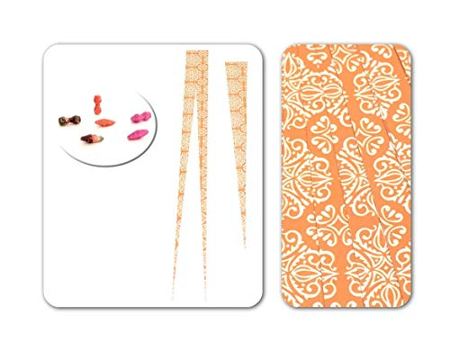 """Hour Glass Paper Bead Beading Strips for Paper Beads 1"""" Precut Paper Strips with Clear Embossing Make Beautiful Beads from Ground Zero Creations"""