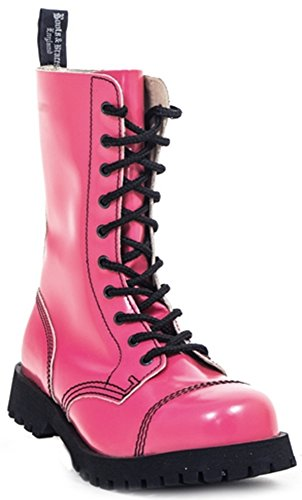 Steel Boots Braces Pink Toe Cap Hot amp; Boots Colour Womens xqYnAqRpw