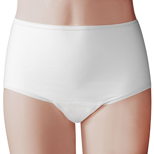 Women's Adult Incontinence Panties - 20 Oz. Pad - 3 Pack - XL - White (White Incontinence Panty)
