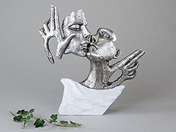 Ausgefallene Deko amazon de ausgefallene deko figur skulptur kuss paar büste in