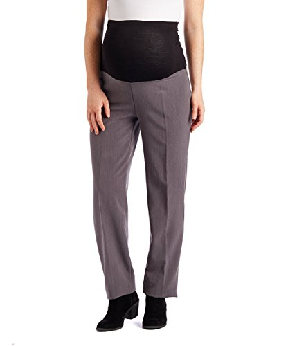 Oh! Mamma Maternity Over The Belly Straight Leg Career Dress Pants (Medium,...
