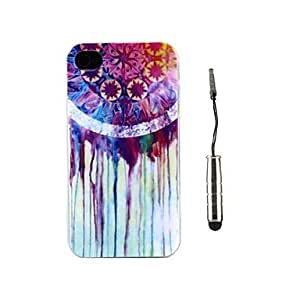 PEACH Dreamcatcher Pattern TPU Soft Case and Stylus for iPhone 4/4S