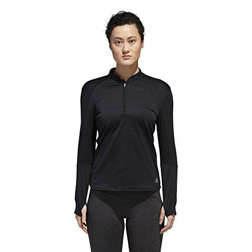 (adidas Women's Running Response Climawarm 1/2 Zip Top, Black, Small)