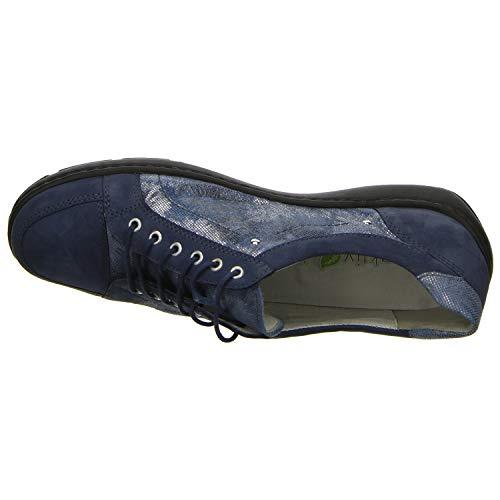 Jeans Azul D Halbschuh Weite Damas De H Camino Bosque Cómodo Guantes Waldläufer AaSqOS