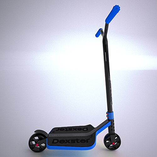 EzyRoller Dexster Cruiser Scooter - Blue Wide Deck Kick Scooter - Ride On for Children Ages 6 to 14 Years Old - Fun Play and Exercise for Boys and Girls - Keep Kids Active Outdoors