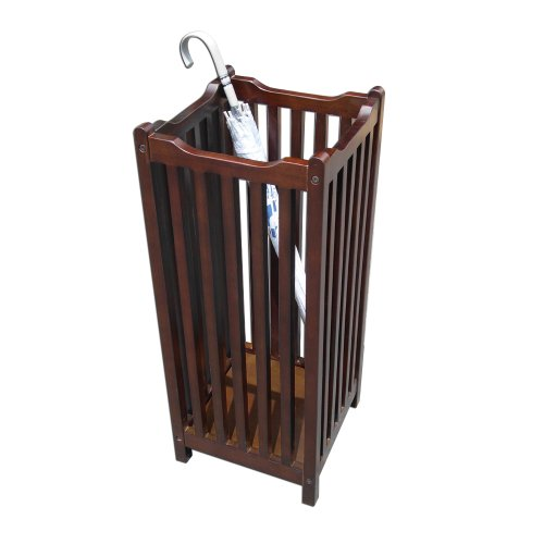 Offex Handcrafted Entryway Mahogany Solid/Veneer Wood Floor Standing Umbrella Stand by Offex (Image #1)
