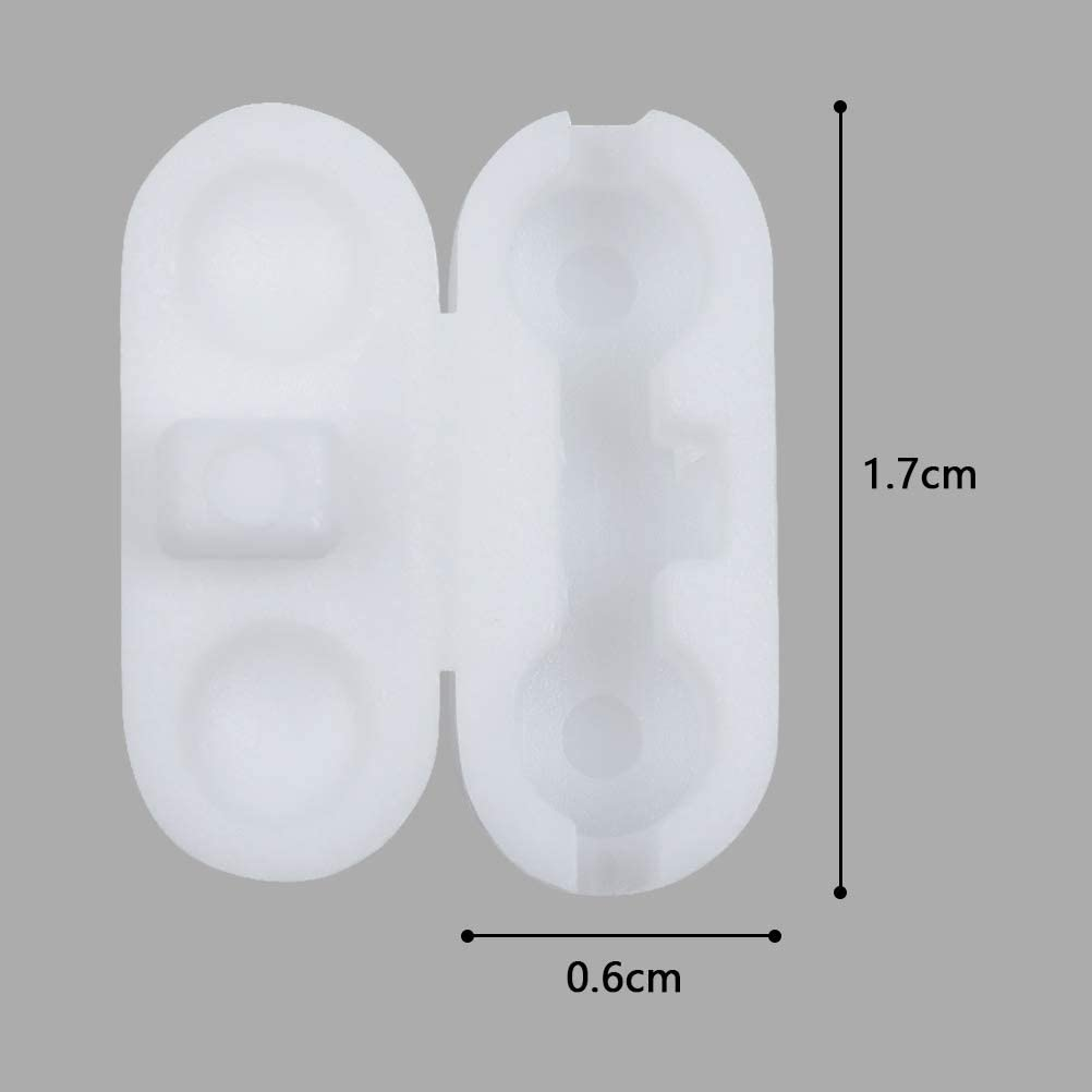 Roman and Vertical Blinds Plastic 4.5mm Beaded Cord Connector for Roller WIFUN 30 Pieces Ball Chain Connectors Clips