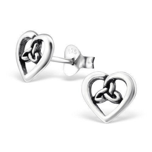 Heart delicate Ear Studs 925 Sterling Silver For Women and Girls