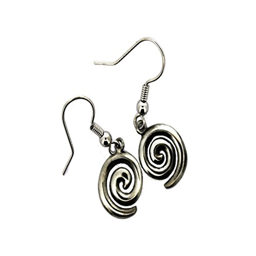 1 Pair Celtic Spiral Earrings Drops Fine Pewter Made in Ireland Celtic Spiral Earrings