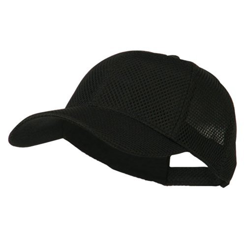 Air Mesh Polyester Cap - Black OSFM