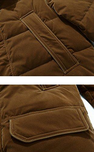 Ispessimento Di Uomini Lungo Gtyw Degli Pelliccia Della Collare Di Piumino Uomini Nuovo Tratto Cammello Del n68qnO1xw