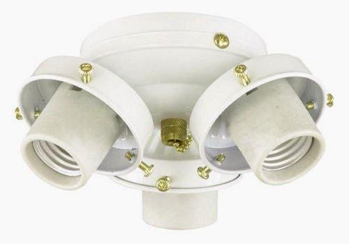 3 light white ceiling fan