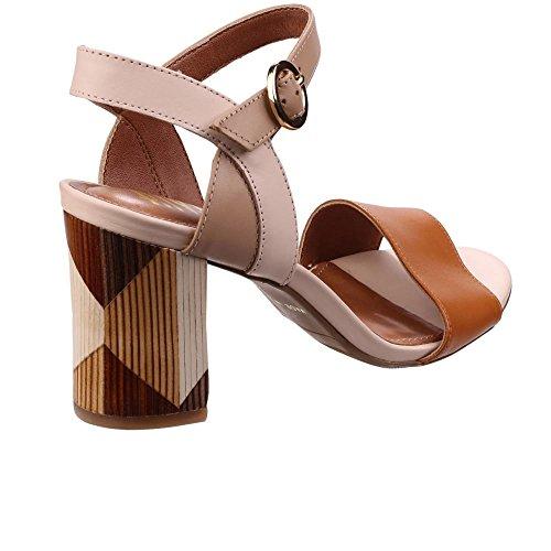 Riva - Sandalias de vestir de Piel para mujer canela