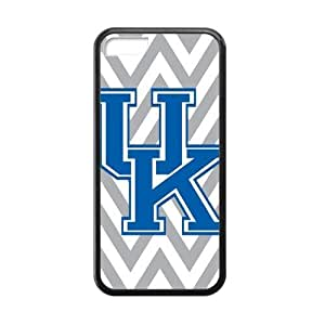 iPhone 5C Case Big Grey Chevron Kentucky Wildcats Pattern Cover Cases for iPhone 5C TPU (Laser Technology)