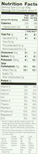Cascadian Farm Organic Granola, Fruit and Nut Cereal, 13.5 oz (Pack of 6) by Cascadian Farm (Image #1)'