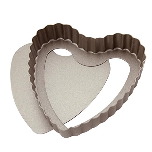 Zomup Bakeware Novelty Cake Pans Nonstick Tart Pans Makers Mini Heart Bake Pan Bundt Cake Molds Baking Molds (Golden)
