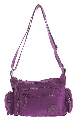 Various Bag Womens Violet Shop 1 Messenger Fabric Rainproof Travel Big Body in Messenger Style Cross Handbag Sizes WHPzwnU4