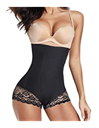 Nebility Butt Lifter Shapewear for Women High Waist Tummy Control Panties Body Shaper Girdle Slimmer Lace Briefs Underwear