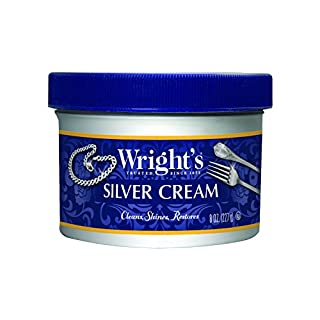 Wright's Silver Cleaner and Polish Cream - 8 Ounce - Ammonia Free - Gently Clean and Remove Tarnish Without Scratching
