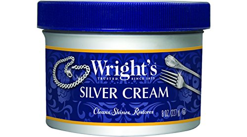 Cream Antique Collection - Wright's Silver Cleaner and Polish Cream - 8 Ounce - Ammonia Free - Gently Clean and Remove Tarnish Without Scratching